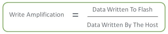 Write Amplification = Data Written To Flash / Data Written By The Host